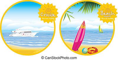 cluburlaub, sandstrand, segeltörn