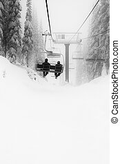 cluburlaub, ski, chairlift