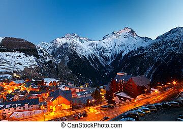 cluburlaub, ski, nacht