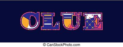 Clue Concept Word Art Illustration