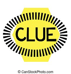 CLUE stamp on white background. Signs and symbols series.
