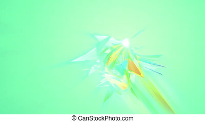 """Clump of Multicolored Triangles in Salad backdrop"" - ""An..."