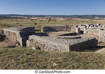 clunia, burgos, peñalba, de, castro, leon, y, カスティリャ, 台なし, スペイン
