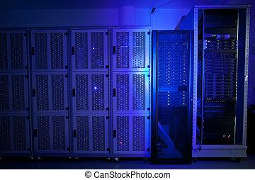 cluster, gestell, daten zentrieren, server