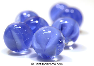 blue marbles - cluster of blue marbles