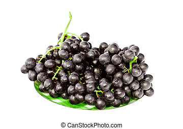 cluster of grape isolated on white background