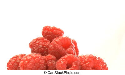 Cluster of rasberries - Pile of rasberries