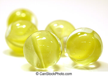 yellow marbles - clusterof yellow marbles