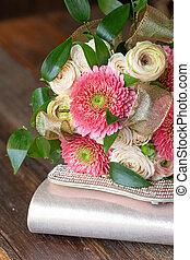 clutch., ריח, accessories., נשף בית-ספר, פרחים, מקרה, פורמלי