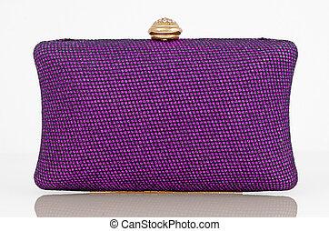 Clutch bag - Elegant purple clutch bag.