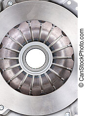clutch plate isolated on white - automotive part. automobile...