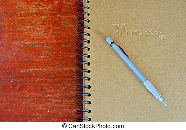 clutch type pencil and note book