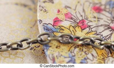 Ladies handbag clutch with chain