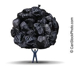 Clutter Management - Clutter management business concept as...