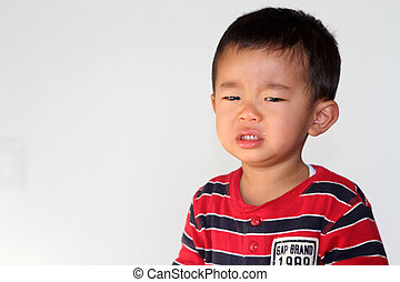 Clying Japanese boy (2 years old)