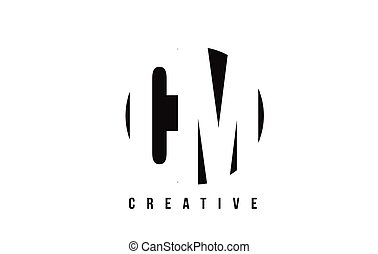 CM C M White Letter Logo Design with Circle Background. - CM...