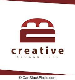 CM Letter mattress Logo Template