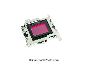 CMOS sensor isolated on white