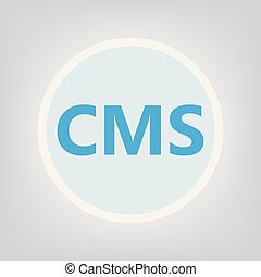 CMS (Content Management System) acronym- vector illustration