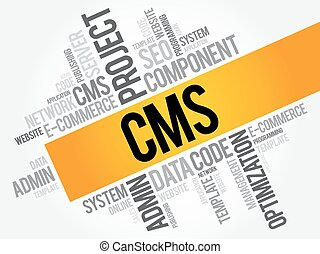 Content Management System word cloud