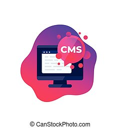 CMS icon, Content management system, vector