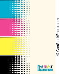 cmyk, abstrakcyjny, tło, szablon, halftone