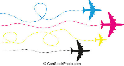 cmyk, airplanes