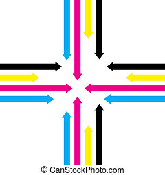cmyk arrows - cmyk abstract arrow background