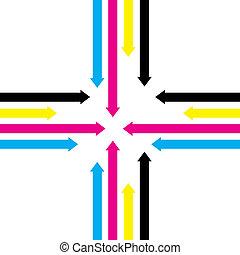 cmyk arrows