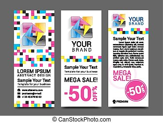 CMYK Banners logo element modern design color