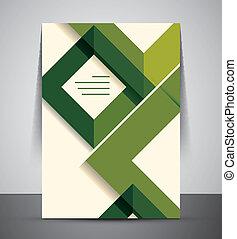CMYK Business Corporate Flyer Template | Geometrical Design