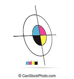 cmyk color vector target