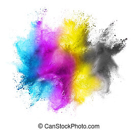 CMYK colored cloud