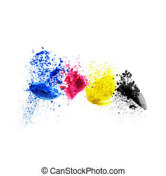 CMYK colour toner for printer cyan magenta yellow black