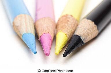 CMYK Coloured Pencils