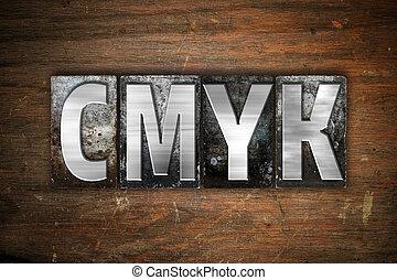 CMYK Concept Metal Letterpress Type