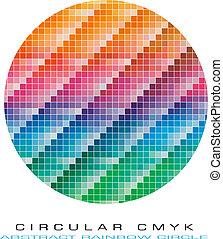 cmyk, cores, paleta, para, abstratos, fundo