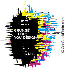 cmyk, couleur, grunge, fond