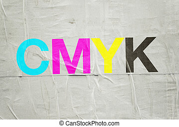 cmyk, digital, impresión, tecnología