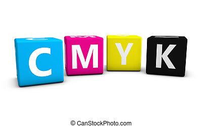Cmyk Digital Offset Print Concept