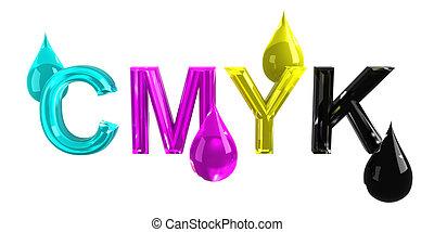 CMYK drops
