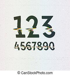 cmyk, nyomtat, vektor, digits, elferdítés