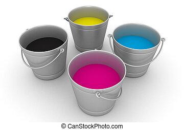 CMYK paint can