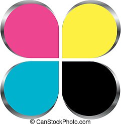 CMYK print logo