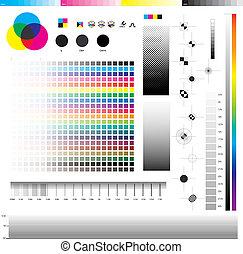 Cmyk Print utilities - Complete set of cmyk graphic symbol...