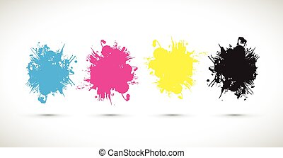 cmyk splash blobs