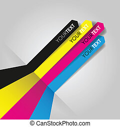 cmyk, stampa, linee