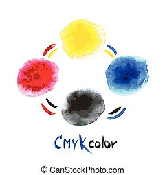 CMYK watercolor,hand painting