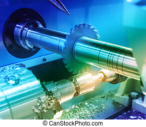 cnc, 金屬加工, 機器, 銑軋