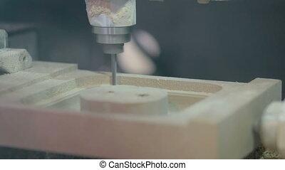 CNC engraving milling machine during work - CNC engraving...